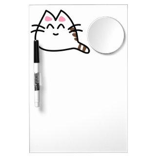 かわいい日本製アニメ猫 ミラー付きホワイトボード