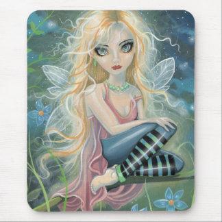 かわいい星明かりの妖精のファンタジーの芸術のマウスパッド マウスパッド