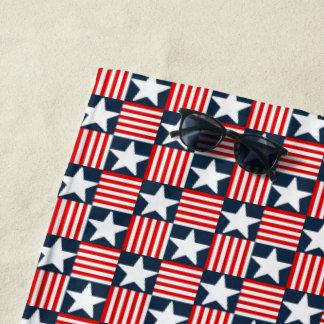 かわいい星条旗 ビーチタオル