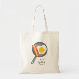 かわいい朝食のベーコン・エッグのトートバック トートバッグ