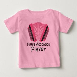 かわいい未来のアコーディオンプレーヤーのベビーのティー ベビーTシャツ