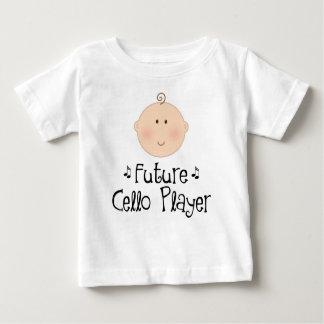 かわいい未来のチェロプレーヤー ベビーTシャツ