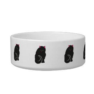 かわいい柔らかく黒い子猫猫 ボウル