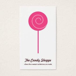 かわいい棒つきキャンデーキャンデーの専門店の名刺 名刺