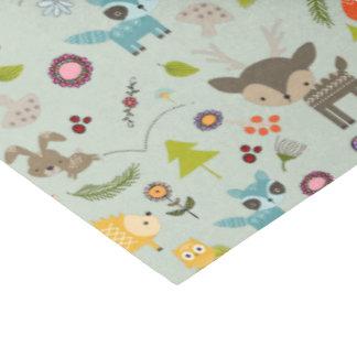かわいい森林創造物動物パターン 薄葉紙