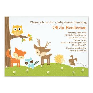 かわいい森林動物の招待状 カード