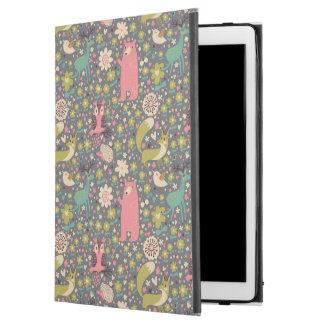 """かわいい森林動物パターン iPad PRO 12.9"""" ケース"""