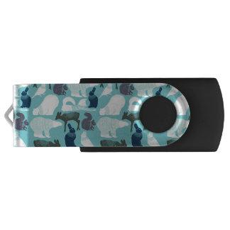 かわいい森林動物パターン USBフラッシュドライブ
