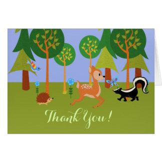 かわいい森林生き物 カード
