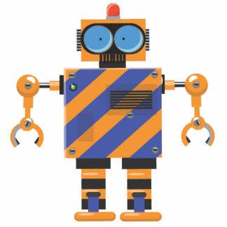 かわいい機械ロボット漫画 写真彫刻(台付き)