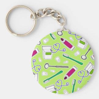 かわいい歯科医/歯科衛生士愛緑の紫色 キーホルダー