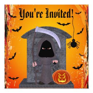 かわいい死神のハローウィンパーティ カード