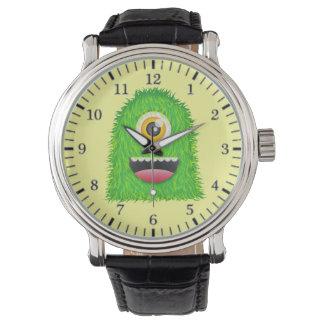 かわいい毛皮で覆われたシクロプスモンスター 腕時計