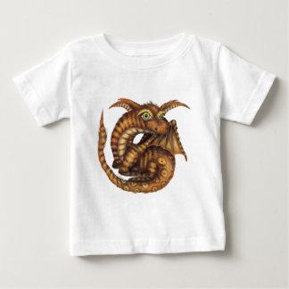 かわいい毛皮で覆われたドラゴン ベビーTシャツ