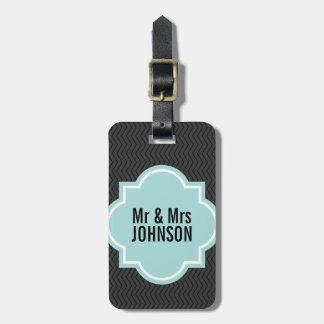 かわいい氏および夫人旅行荷物は新婚者のために付きます ラゲッジタグ