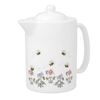 かわいい民芸の蜂のデイジーの蝶