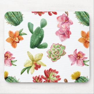 かわいい水彩画の水気が多い手描きのパターン マウスパッド