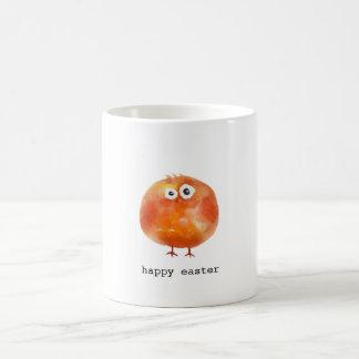かわいい水彩画の鶏のハッピーイースターのマグ コーヒーマグカップ