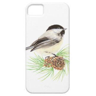 かわいい水彩画の《鳥》アメリカゴガラの鳥の松の木 iPhone SE/5/5s ケース