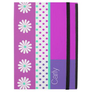 """かわいい水玉模様および花のiPadのプロ場合 iPad Pro 12.9"""" ケース"""