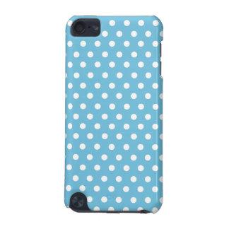 かわいい水玉模様|の水の青および白 iPod TOUCH 5G ケース
