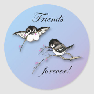 かわいい永久に《鳥》アメリカゴガラの友人のステッカー ラウンドシール