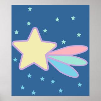 かわいい流星の彗星 ポスター