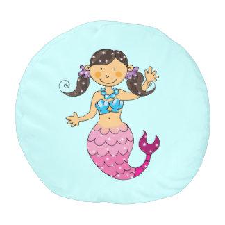 かわいい海の人魚の王女(黒い髪) プーフ