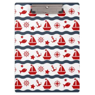 かわいい海上パターン クリップボード
