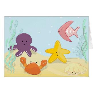 かわいい海洋動物 カード