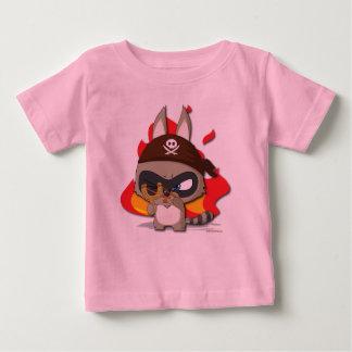 かわいい海賊おもしろいなマンガのキャラクタのぱちんこのティー ベビーTシャツ