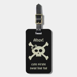 かわいい海賊スワッグのバッグのラベルの名前入りな荷物のラベル ラゲッジタグ