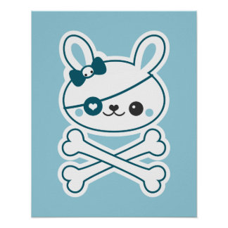 かわいい海賊バニー ポスター