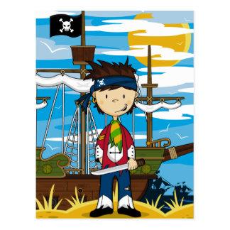かわいい海賊塔乗員の郵便はがき ポストカード