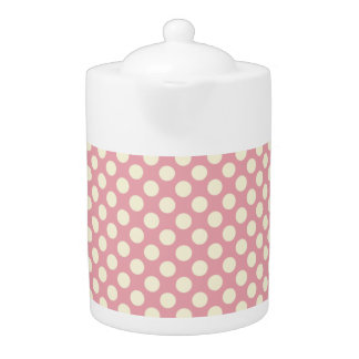 かわいい淡いピンクの水玉模様