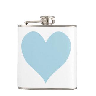 かわいい淡いブルーのハート フラスク