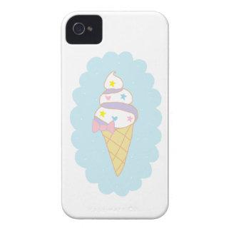 かわいい渦巻のアイスクリームコーン Case-Mate iPhone 4 ケース