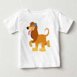 かわいい準備ができた漫画のアフガンハウンドのベビーのTシャツ ベビーTシャツ