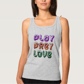 かわいい演劇の犠牲愛平和タンクトップのTシャツのデザイン タンクトップ