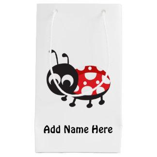 かわいい漫画のてんとう虫 スモールペーパーバッグ