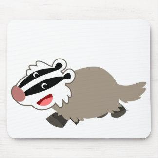 かわいい漫画のアナグマのマウスパッド マウスパッド