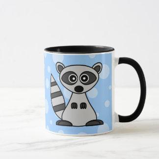 かわいい漫画のアライグマのマグ マグカップ