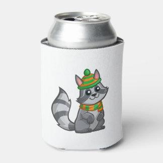 かわいい漫画のアライグマ 缶クーラー