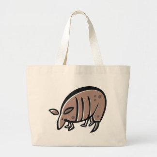 かわいい漫画のアルマジロ ラージトートバッグ