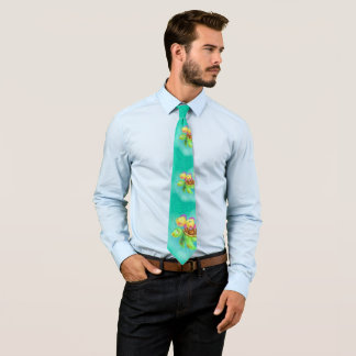 かわいい漫画のカメのタイ オリジナルネクタイ