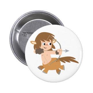 かわいい漫画のケンタウルスの射手座ボタンのバッジ 5.7CM 丸型バッジ