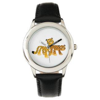 かわいい漫画のチータの腕時計のペア 腕時計