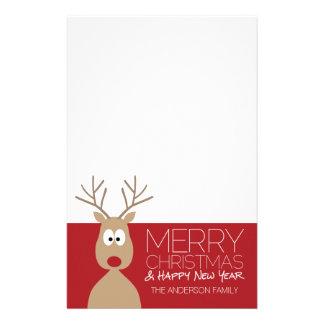 かわいい漫画のトナカイ-メリークリスマスの挨拶 便箋