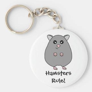 かわいい漫画のハムスター-ハムスターの規則Keychain キーホルダー