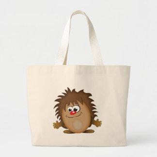 かわいい漫画のハリネズミ ラージトートバッグ